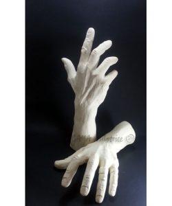 6 Doigts - Sculpture originale en plâtre blanc