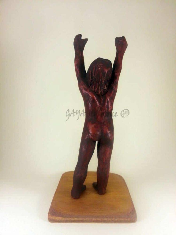 Elle Veut....Pièce unique en terre cuite patinée ocre rouge, 12/2012, h 12cm x 5 x 4, Collection Privée