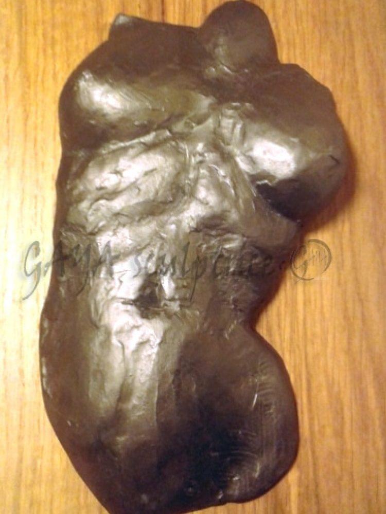 Buste La Grande - Pièce unique en terre cuite patine graphite - 2010 - Disponible 300 €