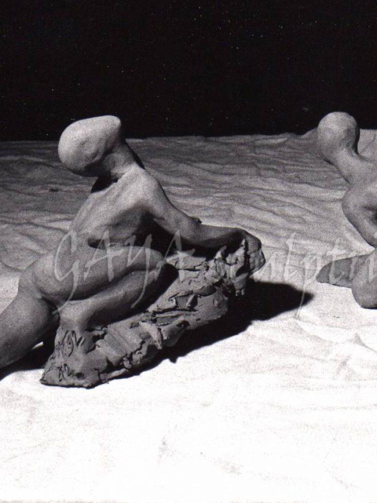 Sans Titres - Terres crues - 13 et 14/1992  - hauteur 8 cm - Détruites