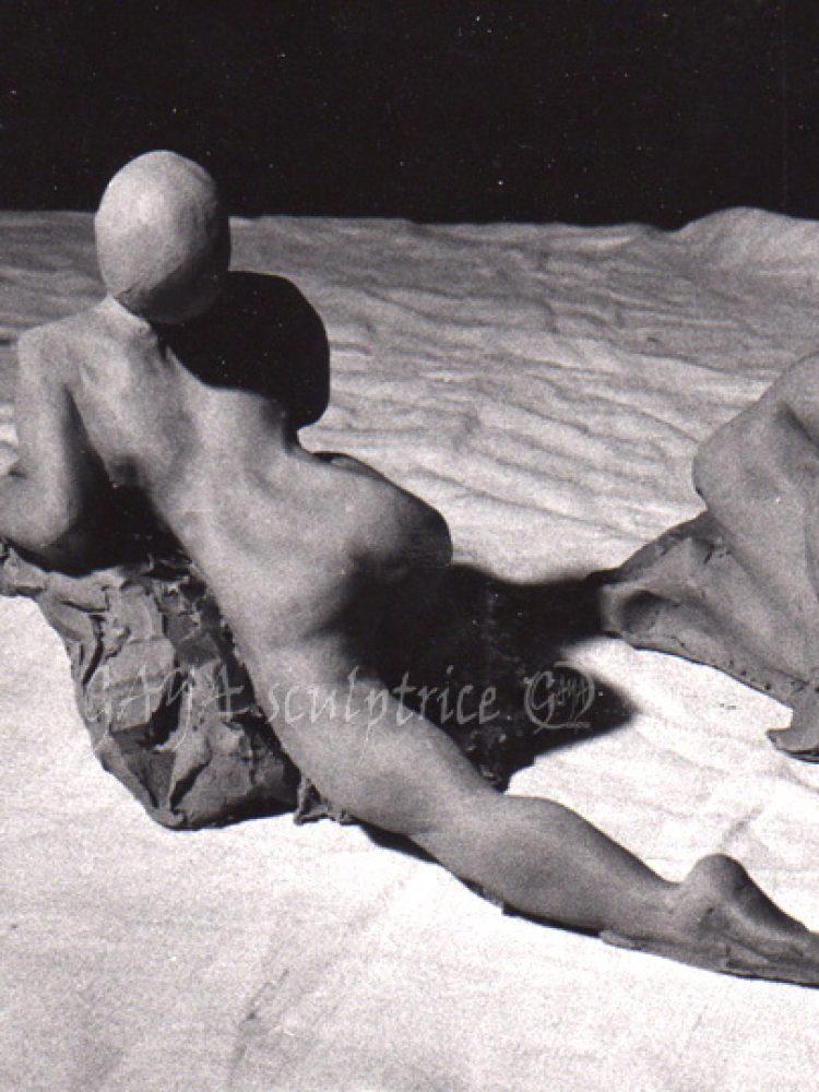 Sans Titre - Terre crue - 13/1992  - hauteur 8 cm - Détruite